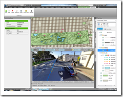 Panoramic imagery and map with earthmine extension for AutoCAD Map 3D