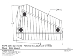 Lake Spectacle design for the beams, joist and decking