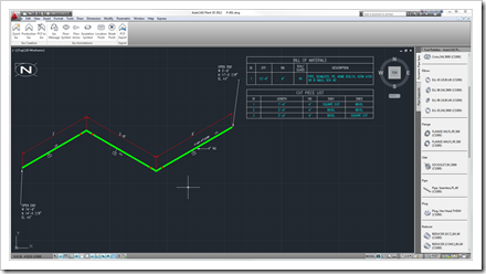 Isometric drawing generated by AutoCAD Isometrics WS