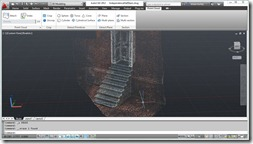 Independence Hall Side Stairs as Point Cloud in AutoCAD
