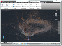 Kiva Ruins at Towerhouse as a point cloud in AutoCAD