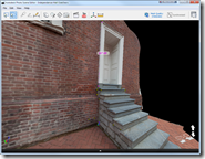 Photofly Model of Independence Hall Stairs