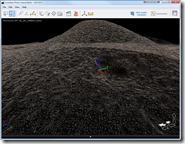 Photofly Model of Ant Hill showing surface mesh