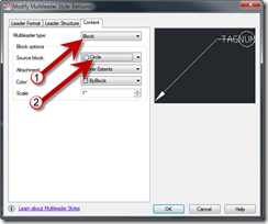 Changing Mleader Style Settings - AutoCAD Multileader Style Manager