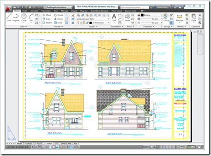 Up! House by Bangerter Homes - Elevation DWG in AutoCAD