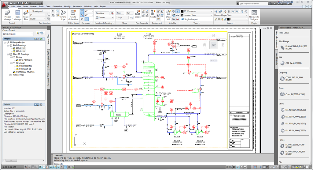 autocad plant 3d 2012 with pid design