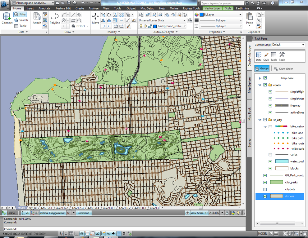 Earthmine for autocad map 3d san francisco map dataset sciox Images