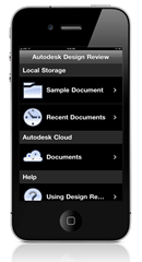 Autodesk Design Review mobile - Files on iPhone