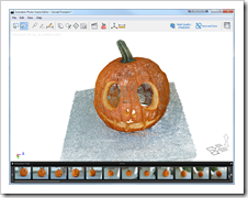 Project Photofly captured pumpkin