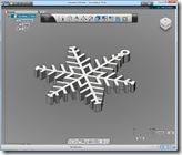 Beau's 3D ornament in the free 123D software