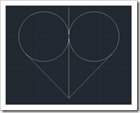 Step 4 of Create Heart in AutoCAD
