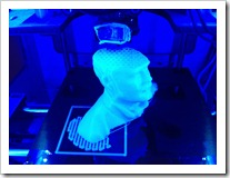 My 3D Head Print in Progress on MakerBot Printer