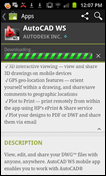 AutoCAD WS Mobile 1.4 Android Update
