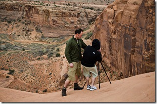 One of the cliff edge scan locations
