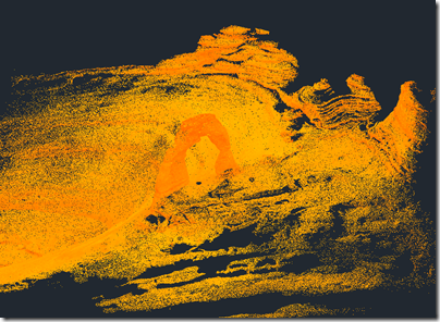 Delicate Arch as a large Point Cloud
