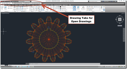 Drawing Tabs in AutoCAD 2013