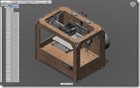 Inventor Fusion for Mac MakerBot Replicator Assy