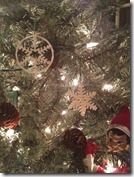 Beau Turner's 3D Printed ornaments on the Christmas tree