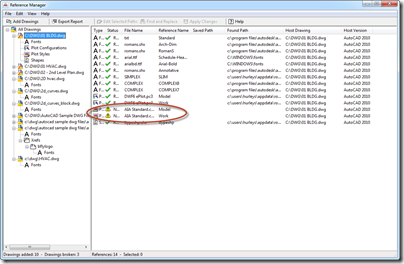 AutoCAD 2012 Reference Manager - Problem Plot Style