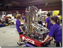 Team 2403 Team Plasma & their winning robot.