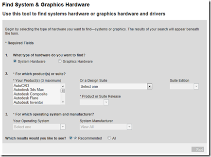 Find System & Graphics Hardware
