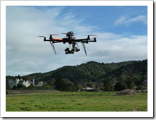 Autodesk's Octo-Copter Flying in Marin County