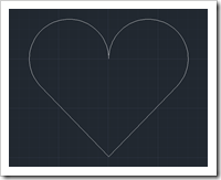 Heart in AutoCAD