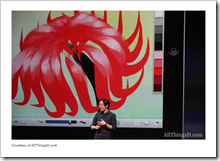 Chris Cheung  on stage showing the upcoming new Autodesk SketchBook Ink