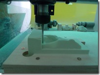 ShopBot cutting the Delicate Arch Model