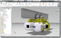 Crane Assembly Before Using Inventor Simplication for Inventor 2013