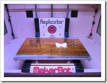 MakerBot Replicator 3D Printer, printing a Butterfly