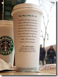 Starbucks Coffee cup quote from Dr. Louise Leakey