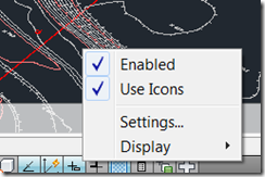 Right-Click menu to disable Icons and use Text in the Drawing Tools