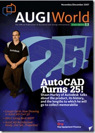 Shaan on AUGIWorld Mag Cover for 25th AutoCAD Anniversary