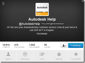 @AutodeskHelp on Twitter