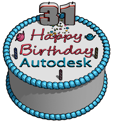 Autodesk 31st BIrthday Cake in 3ds Max