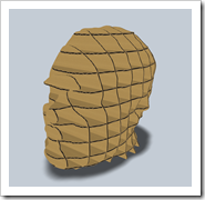 Shaan's Head in 3D Carboard Model created using Autodesk 123D Make