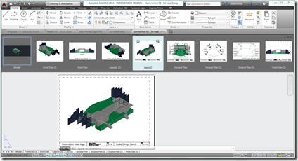 The new File Tabs in AutoCAD 2014 with QuickView Drawing Preview