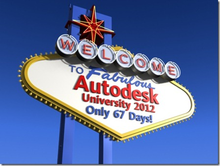 AU 2012 - 67 Days Away - Rendering in 3ds Max