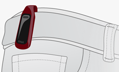 Fitbit One Unit Clipped Onto a Belt