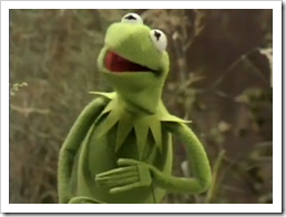 """Kermit the Frog """"It's Not Easy Being Green"""""""