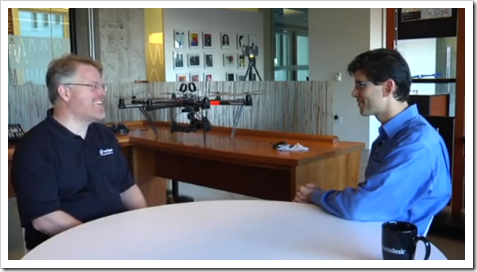 Robert Scoble interviewing Brian Mathews group CTO with Autodesk