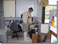 Me in Leiderhosen in 2000 in my San Rafael office