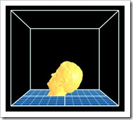 Scott's 3D head in ReplicatorG for 3D Printing