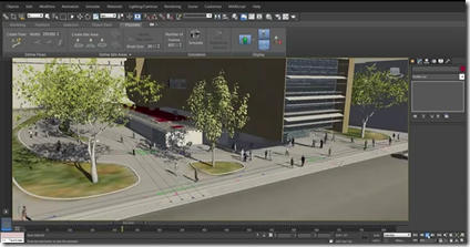 3ds Max 2014 Populate Feature