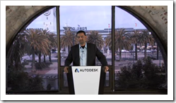 Autodesk's Amar Hanspal Senior Vice President, Information Modeling & Platform Products Group announced and showed some of the new Autodesk 2014 product & suites