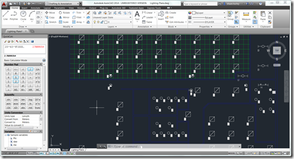 AutoCAD 2014 using QuickCalc