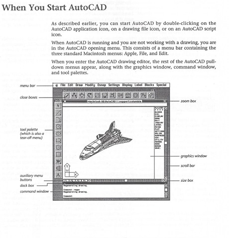 AutoCAD R11 for Macintosh manual illustration