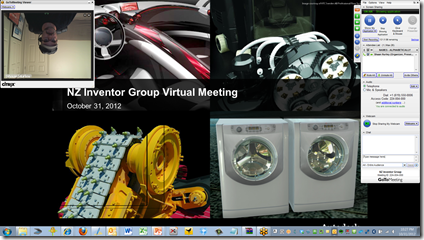 My GoToMeeting Screen and upside down web cam