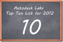 Autodesk Labs Top 10 Downloads for 2012